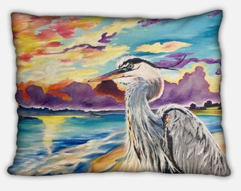 Blue Heron pillow