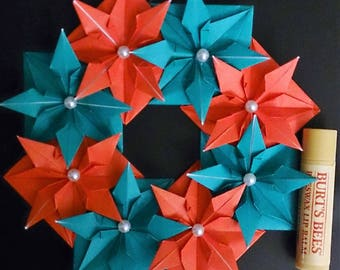 Origami Holiday Wreaths