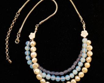 Lorelei Fleur Bleue Necklace