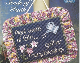 Plastic Canvas Patterns,Seeds of Faith,Plastic Canvas Wall Hangings,Christian Wall Hangings, Religious Wall Hangings,