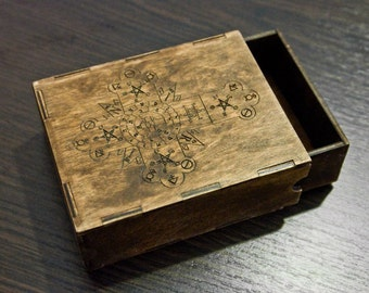 Wooden box package personalized for gift and souvenir