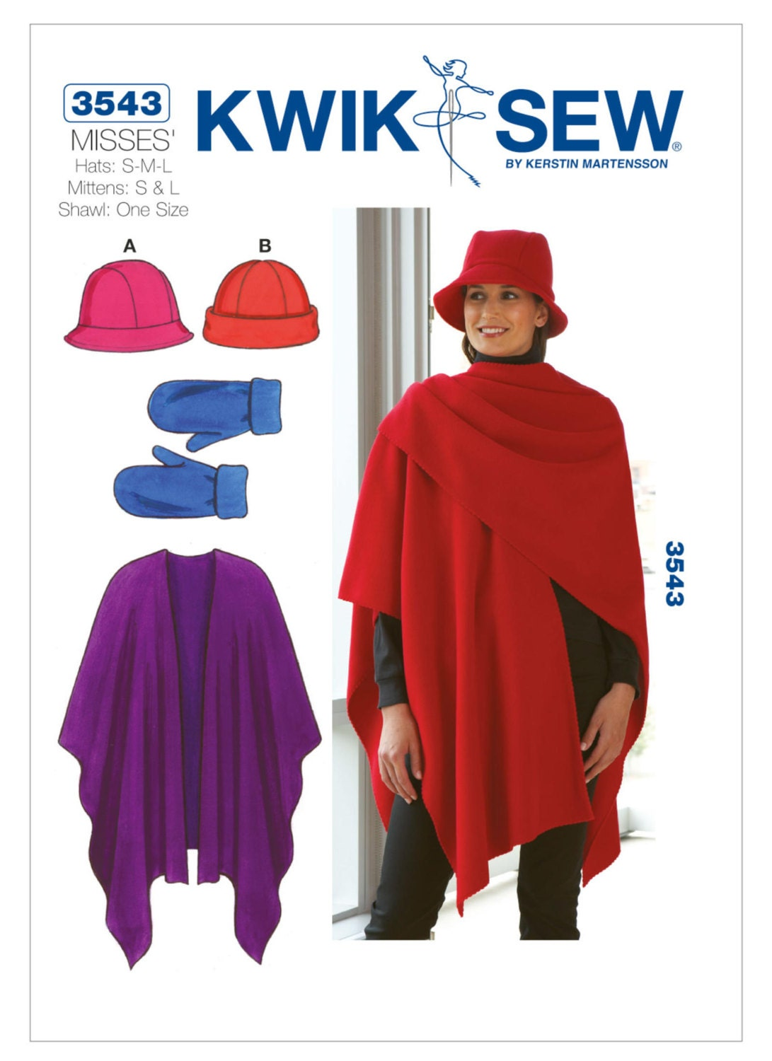 Sewing Pattern for Misses Bucket Hat Beanie Mittens and