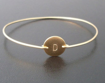Personalized Gold Bracelet, Personalized Bracelet, Monogram Initial Bracelet, Gold, Hand Stamped Bracelet, Custom, Gold Stamped Bracelet