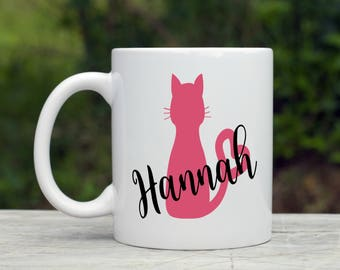Personalized Cat Coffee Mug - Cat Lover - Cat Mom Gift