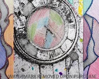Abstract OUTDOOR Clock / Zentangle / Patio / Deck / Garden