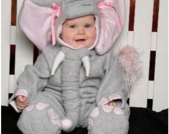Elephant Costume, Toddler, Fleece Jumpsuit with Hood - CUSTOM Lumpy the Heffalump