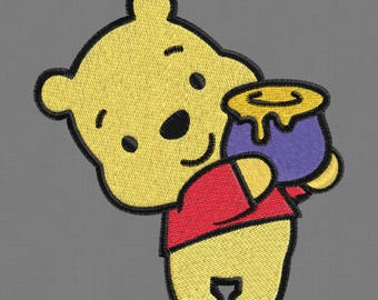embroidery design Winnie Pooh baby 2x2 4x4 pes jef hus