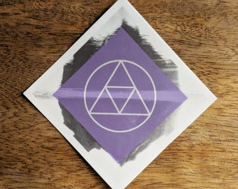 The Golden Power Sticker - Vinyl Stickers, Power, Wisdom, Courage, boho, energy field, ancient symbol, crystal grid