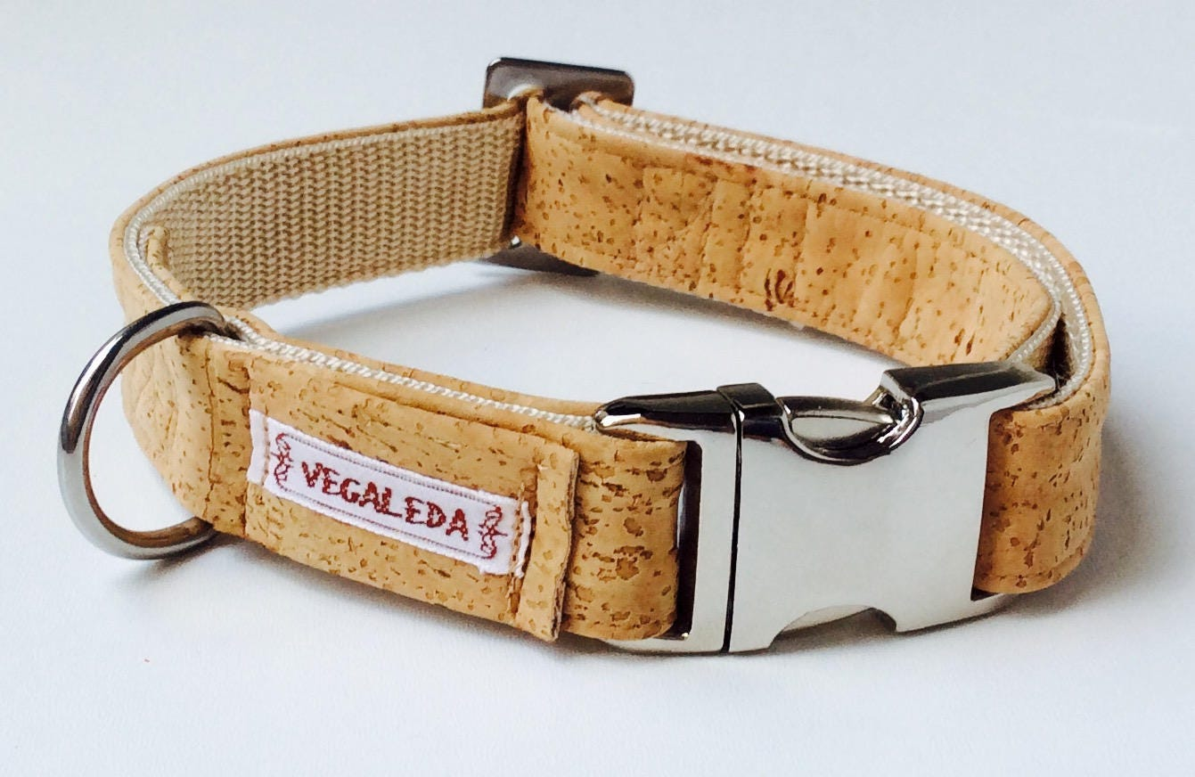 Dog collar, nature, natural dog, vegan, 2, 5 cm wide, various sizes ...