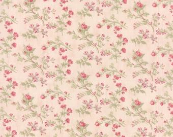 Paris Flea Market Favorites Shabby 3 Sisters Pink Floral Sm Fabric BTY 3770-12