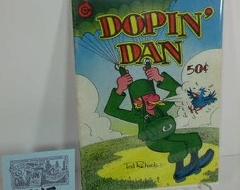 "1973 Last Gasp Press-""Dopin'Dan""by Artist Ted Richards-Underground Comix"