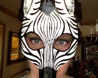 Zebra mask, zebra costume, zebra wall hanging