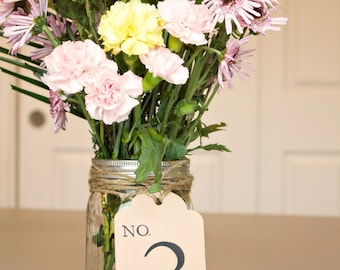 Wedding Table Number Tags, Wedding, Party Table Numbers, Table Number Tags
