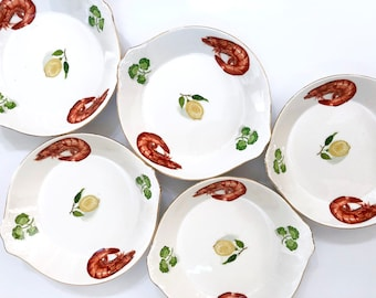 Retro serving plates x 5, made in Japan