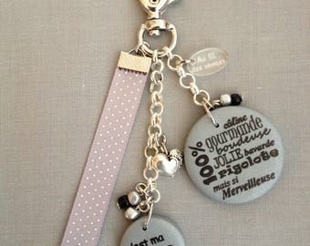 """My girl"" keychain or bag charm"