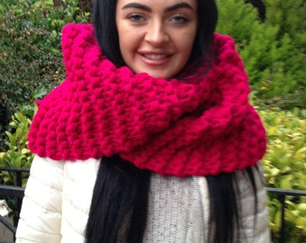 Claire Cowl, OUTLANDER, Pink Scarf,  Outlander, OFFER Any 2 for 48. Pay only 1 shipping. Any Colour. Chunky,  Pick your color, Gift for Her.