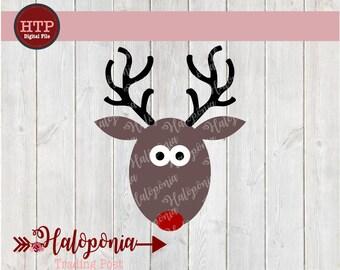 Christmas Reindeer Boy Rudolph SVG File