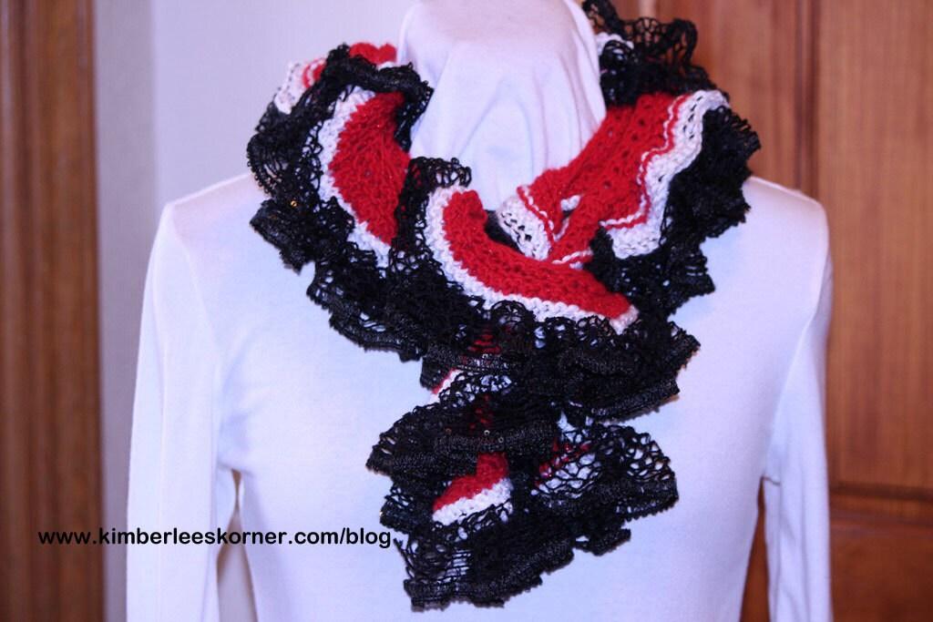Knitting Patterns for Sashay Yarn, Knit Pattern for Ruffle Scarf ...