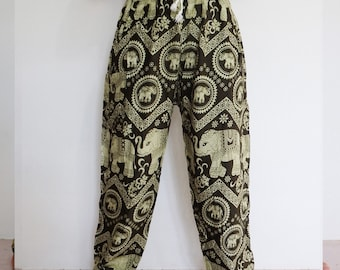 Thai harem pants Olive - Lapin.DIY