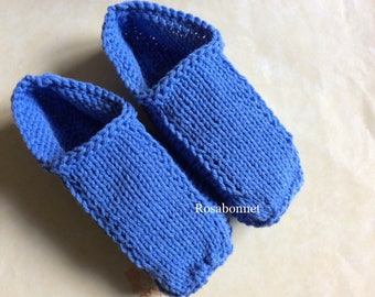 Blue Man flat slippers