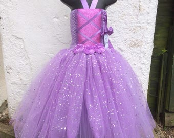 Tangled dress, Princess Rapunzel,  Rapunzel dress, Rapunzel long tutu, Rapunzel costume, Tangeled Tutu, Princess tutu, party dress