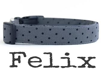 Unisex Dog Collar, DOG COLLARS, The Felix, Dog Collar, Dog Collars for Boys, Dog Collar for Girls, Dog Collar, Polka Dot