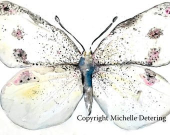 Moth - Watercolor Print - Watercolor Illustration, Watercolor Butterfly, Watercolor Moth, Watercolour, Moth Painting, Moth Art, Moth Decor