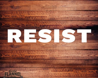 RESIST - Car Decal, laptop decal, window decal - BF-D1042