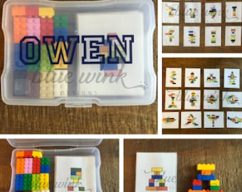 Lego Building Puzzle Kit (LEVELS ONE & TWO)-Educational Toy-Stem-Fine Motor Skills-Personalized Gift