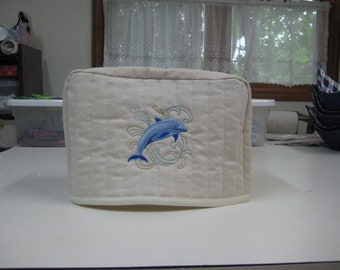 4 slice toaster cover dolphin design