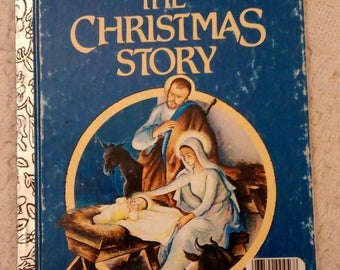 The Christmas Story, A Little Golden Book, Christmas Books , Childrens Christmas Books, Vintage Childrens Books, Classic Childrens Books