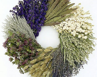 herb wreath etsy