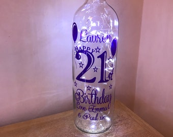 Birthday light up bottle