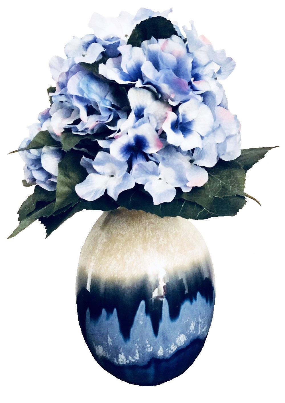 Blue hydrangeas silk floral arrangement handmade silk flowers blue hydrangeas silk floral arrangement handmade silk flowers etsy home decor mothers day birthday gift gift idea etsy seller mightylinksfo