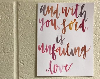Handmade Water Color Lettering