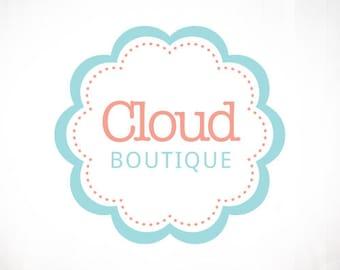 Premade Logo Design • Cloud Scallop