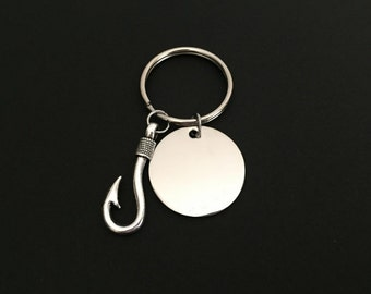 Hook On You Key Chain. Personalized Stainless Steel Key Chain. My Best Catch Key Chain. Husband. Boyfriend Key Chain. Anniversary Gift.