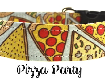 Pizza Dog Collar - The Pizza Party