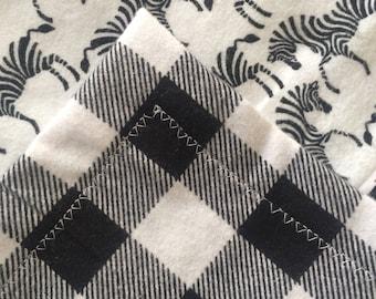 Baby Blanket, Security blanket, burp cloth, flannel