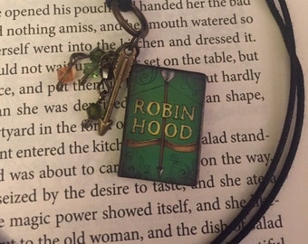 "Robin Hood Charm Pendant necklace ""The Outlaw of Sherwood"""
