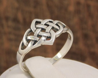 Celtic Weave Ring Sterling Silver Ring Irish Knot Ring Irish Jewelry Celtic Knot