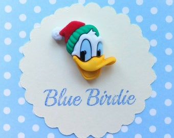 Disney Christmas Donald Duck brooch Disney jewelry Donald Duck jewellery Christmas jewelry Donald Duck gifts Disney gifts Christmas gifts