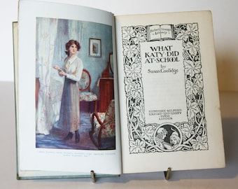 What Katy Did at School 1919 Antique Vintage book English Literature Classic books School book