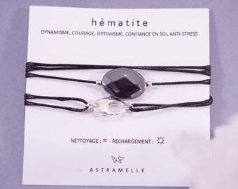 Necklace / greed Hematite Charm Bracelet