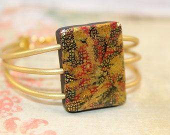 Klimt ispired square bracelet
