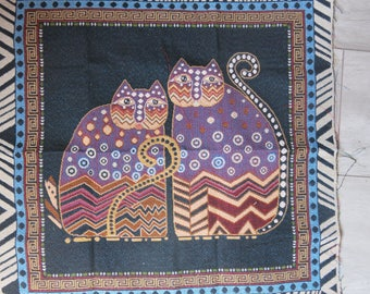 The cat tapestry style Panel