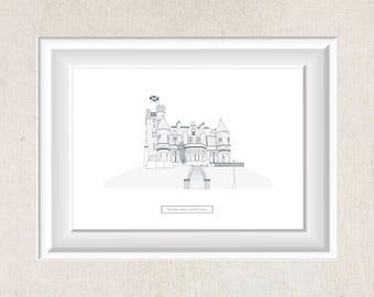 Sherbrooke Castle Hotel Illustration Print