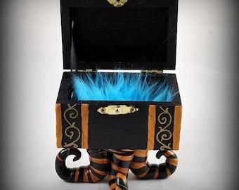 SALE - Keepsake Box - Dark Home Decor - SKuLLs and RoSEs  MoNsTeR bOx - Unique Gifts - Trinket Box - Reduced Price