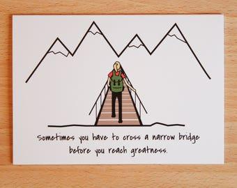 Narrow Bridge Greeting Card | Encouragement Card | Inspirational Card