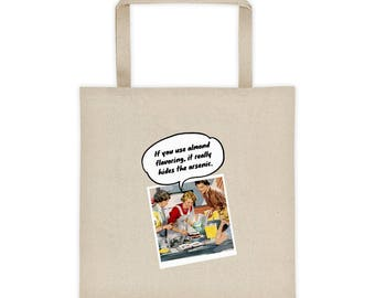 Retro Vintage 1950s Style Hide The Arsenic Tote Bag